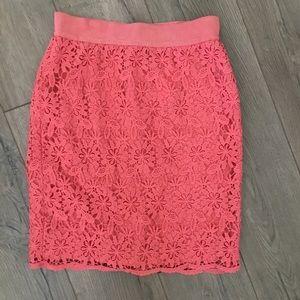 Ann Taylor Lace Pencil Skirt